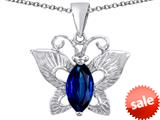 Original Star K™ Love Butterfly Pendant with Marquise Shape Created Sapphire style: 309704