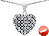 Original Star K™ Round Simulated Diamond Puffed Heart Pendant style: 309720