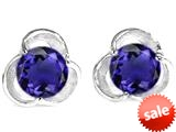 Original Star K™ Round 6mm Simulated Tanzanite Flower Earrings Studs style: 309742