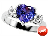 Original Star K™ 8mm Heart Shape Simulated Tanzanite Engagement Ring style: 309748