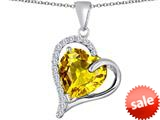 Original Star K™ Heart Shape 12mm Simulated Citrine Double Heart Love Pendant style: 309777