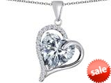 Original Star K™ Heart Shape 12mm Simulated Diamond Double Heart Love Pendant style: 309781