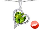 Original Star K™ Heart Shape 12mm Simulated Peridot Double Heart Love Pendant style: 309784