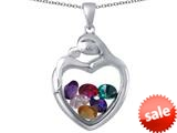 Switch-It Gems™ Loving Mother with Child family Heart Locket Pendant with 12 Simulated Birthstones Included style: 309800