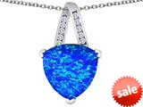 Original Star K™ Large 15mm Trillion Pendant with Created Blue Opal style: 309802