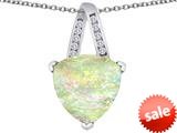 Original Star K™ Large 15mm Trillion Pendant with Created Opal style: 309803