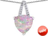 Original Star K™ Large 15mm Trillion Pendant with Created Pink Opal style: 309804