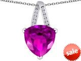 Original Star K™ Large 15mm Trillion Pendant with Created Pink Sapphire style: 309805
