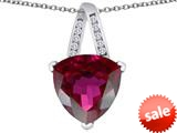Original Star K™ Large 15mm Trillion Pendant with Created Ruby style: 309806