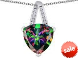 Original Star K™ Large 15mm Trillion Pendant with Rainbow Mystic Topaz style: 309807