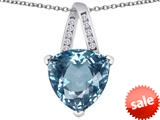 Original Star K™ Large 15mm Trillion Pendant with Simulated Aquamarine style: 309810