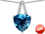 Original Star K™ Large 15mm Trillion Pendant with Simulated Blue Topaz style: 309811