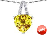 Original Star K™ Large 15mm Trillion Pendant with Simulated Citrine style: 309812