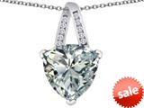 Original Star K™ Large 15mm Trillion Pendant with Simulated White Topaz style: 309813