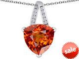 Original Star K™ Large 15mm Trillion Pendant with Simulated Orange Mexican Fire Opal style: 309815