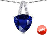 Original Star K™ Large 15mm Trillion Pendant with Simulated Sapphire style: 309817
