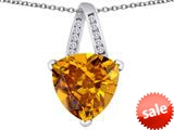 Original Star K™ Large 15mm Trillion Pendant with Simulated Imperial Yellow Topaz style: 309819