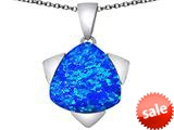Original Star K™ Large 15mm Trillion Star Pendant with Created Blue Opal style: 309826
