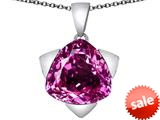 Original Star K™ Large 15mm Trillion Star Pendant with Created Pink Sapphire style: 309827