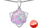 Original Star K™ Large 15mm Trillion Star Pendant with Created Pink Opal style: 309831