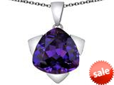 Original Star K™ Large 15mm Trillion Star Pendant with Simulated Amethyst style: 309832