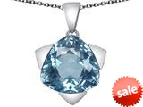 Original Star K™ Large 15mm Trillion Star Pendant with Simulated Aquamarine style: 309833