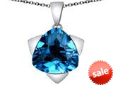 Original Star K™ Large 15mm Trillion Star Pendant with Simulated Blue Topaz style: 309834
