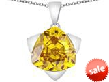 Original Star K™ Large 15mm Trillion Star Pendant with Simulated Citrine style: 309835