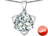 Original Star K™ Large 15mm Trillion Star Pendant with Simulated White Topaz style: 309836