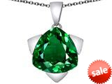 Original Star K™ Large 15mm Trillion Star Pendant with Simulated Emerald style: 309837