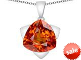 Original Star K™ Large 15mm Trillion Star Pendant with Simulated Orange Mexican Fire Opal style: 309838