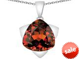 Original Star K™ Large 15mm Trillion Star Pendant with Simulated Garnet style: 309839