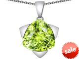 Original Star K™ Large 15mm Trillion Star Pendant with Simulated Apple Green Amethyst style: 309840