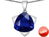 Original Star K™ Large 15mm Trillion Star Pendant with Simulated Sapphire style: 309841