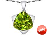 Original Star K™ Large 15mm Trillion Star Pendant with Simulated Peridot style: 309842