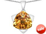 Original Star K™ Large 15mm Trillion Star Pendant with Simulated Imperial Yellow Topaz style: 309843
