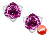 Original Star K™ 7mm Trillion Star Earrings with Created Pink Sapphire style: 309844