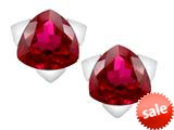 Original Star K™ 7mm Trillion Star Earrings with Created Ruby style: 309845