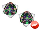Original Star K™ 7mm Trillion Star Earrings with Rainbow Mystic Topaz style: 309846