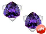 Original Star K™ 7mm Trillion Star Earrings with Simulated Amethyst style: 309847