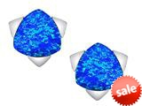 Original Star K™ 7mm Trillion Star Earrings with Created Blue Opal style: 309849