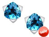 Original Star K™ 7mm Trillion Star Earrings with Simulated Blue Topaz style: 309850