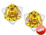 Original Star K™ 7mm Trillion Star Earrings with Simulated Citrine style: 309851