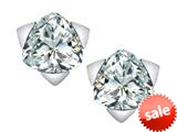 Original Star K™ 7mm Trillion Star Earrings with Simulated White Topaz style: 309853