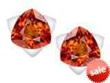 Original Star K™ 7mm Trillion Star Earrings with Simulated Orange Mexican Fire Opal style: 309855
