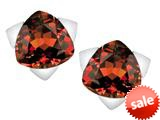 Original Star K™ 7mm Trillion Star Earrings with Simulated Garnet style: 309856
