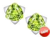 Original Star K™ 7mm Trillion Star Earrings with Simulated Apple Green Amethyst style: 309857
