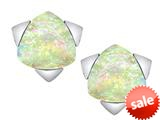 Original Star K™ 7mm Trillion Star Earrings with Created Opal style: 309858