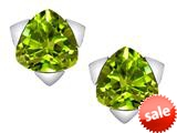 Original Star K™ 7mm Trillion Star Earrings with Simulated Peridot style: 309859