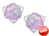 Original Star K™ 7mm Trillion Star Earrings with Created Pink Opal style: 309860